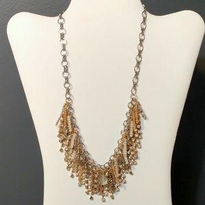 WHBM multi fringe necklace
